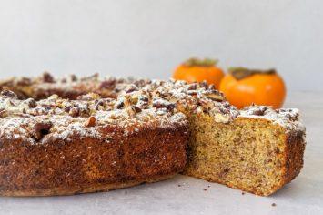 עוגת אפרסמון וקינמון ללא גלוטן