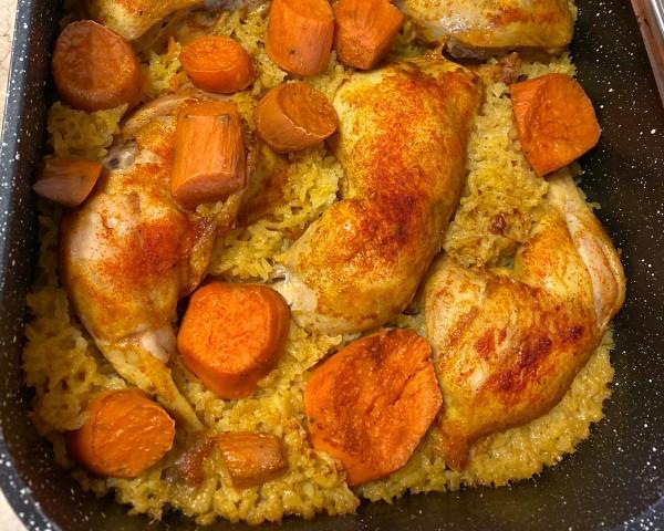 אמא מה יש לאכול היום? עוף בתנור עם אורז ובטטות של ליבילנד