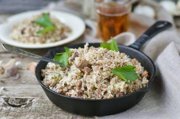 בחש: תבשיל בוכרי של אורז ובשר כבש