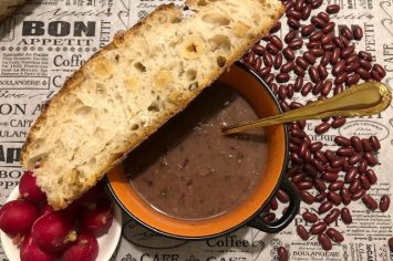 היישר מגאורגיה המושלגת, מרק שעועית חורפי ומזין של ג'אנה חן