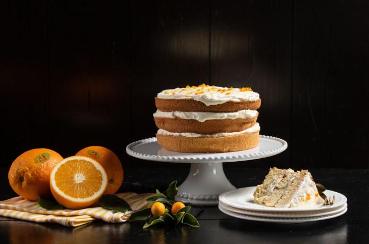 עוגת תפוזים שכבות מפוארת. צילום: נמרוד סונדרס