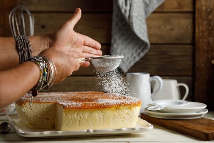 עוגת סופלה גבינה. צילום: שניר גואטה