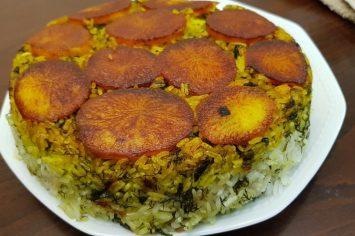 מלי והשורשים הפרסיים: אורז עם עשבי תיבול ותפוחי אדמה
