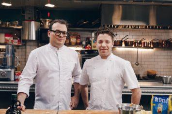 דיויד פרנקל ומאיר דנון מציגים: מחבת ריגטוני עם קונפי ברווז, יין לבן וירקות