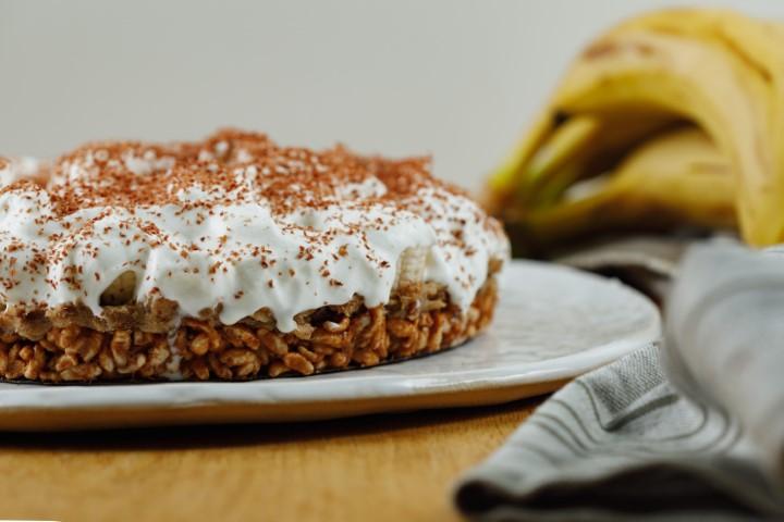 פאי תמרים, בננות ושוקולד. צילום: שניר גוואטה