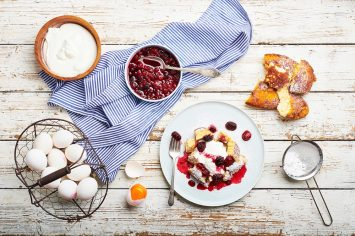 קייזרשמרן: פנקייק גרמני עם פירות יער של השף תום פרנץ