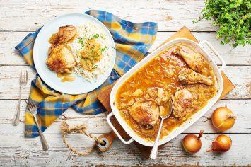 קלאסיקה של בית: עוף בבצל של השף תום פרנץ