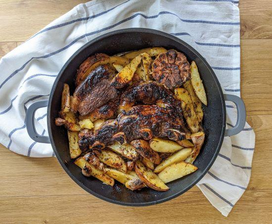 שפונדרה עם תפוחי אדמה ואורגנו. צילום: אסי רוז