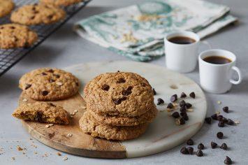 עוגיות שיבולת שועל ושוקולד צ'יפס טבעוניות