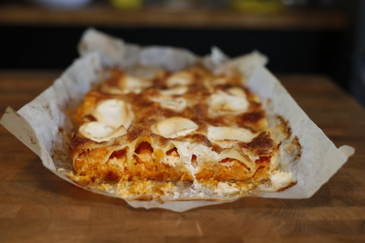 קנלוני גבינות - הגשה