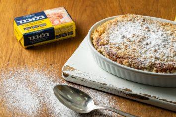 פרשנס: עוגת לימון וקראמבל רעננה וטבעונית