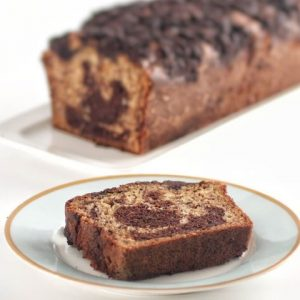 עוגת שיש בננה-שוקולד וקרמבל קקאו. צילום: אייל רווח