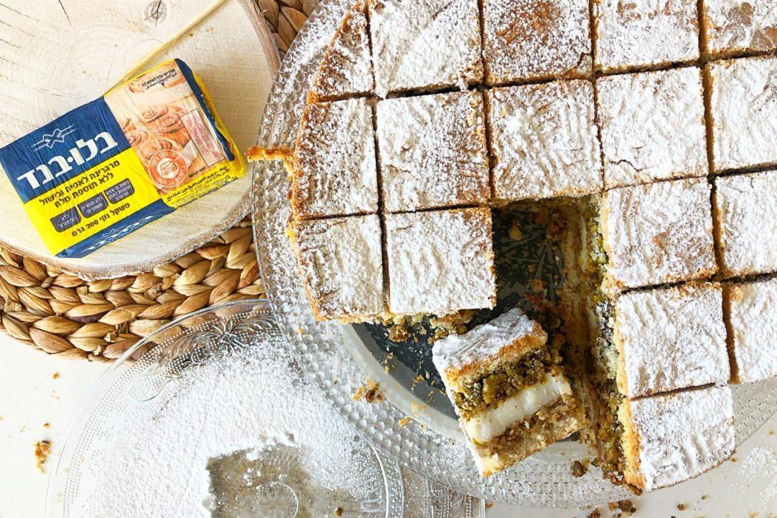 עוגת מעמול בשכבות. צילום: פרח רסלאן