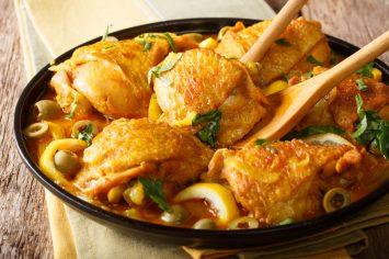 כמו של מאמא מרוקאית – עוף מרוקאי בזיתים, לימון כבוש ואריסה