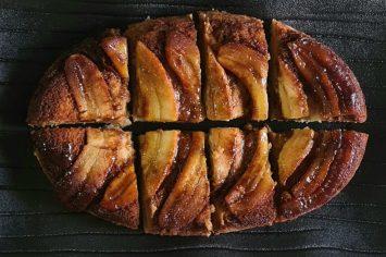 עם מצב רוח טוב מכינים עוגה הפוכה: עוגת בננות של ליאור שרף