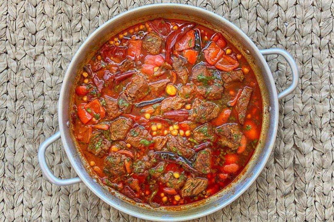 תבשיל בשר מרוקאי. צילום: יהודה עמר