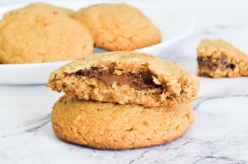 עוגיות חמאת בוטנים ונוטלה - ללא קמח