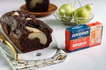 עוגת שוקולד ואגסים מרשימה וטעימה