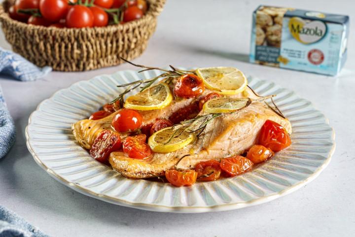 דג סלמון בתנור. צילום: שי אפגין