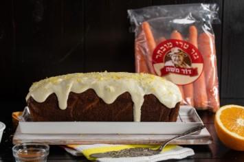 עוגת גזר אמריקאית בציפוי גבינת שמנת לימוני