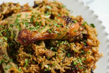 עוף עם אורז ופטריות בשקית קוקי