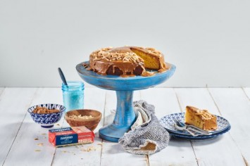 הבהלה לקרמל מלוח: עוגת קרמל מלוח פרווה וכשרה לפסח