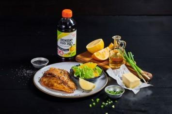 פילה דג ברוטב חמאה ופונזו