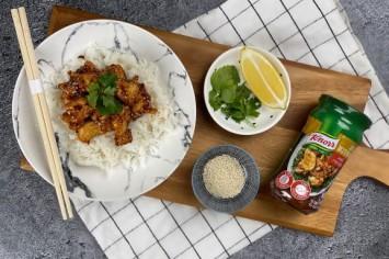 עוף חמוץ מתוק סיני ברוטב שום ודבש משגע