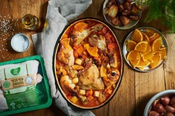 סחוט טרי: עוף במיץ תפוזים