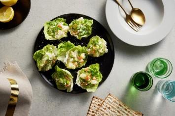 סלט מיונז ותפוחי אדמה בסירות חסה של מירי כהן