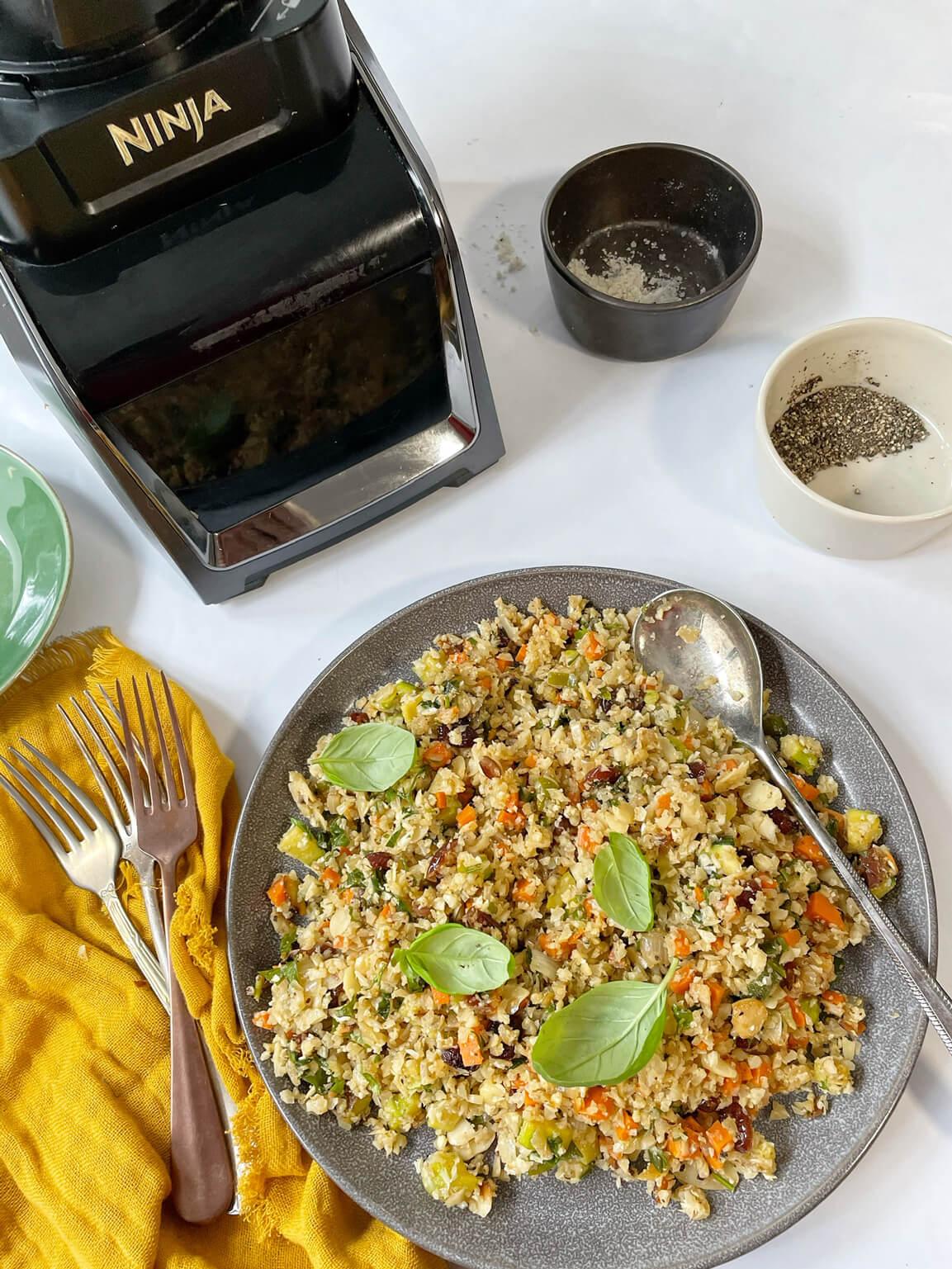 אורז כרובית עם מעבד מזון נינג'ה