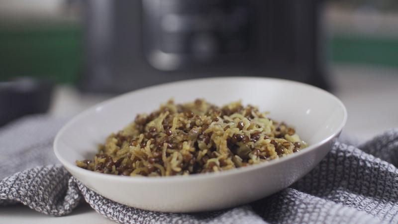 מג'דרה אורז ועדשים שחורות 1