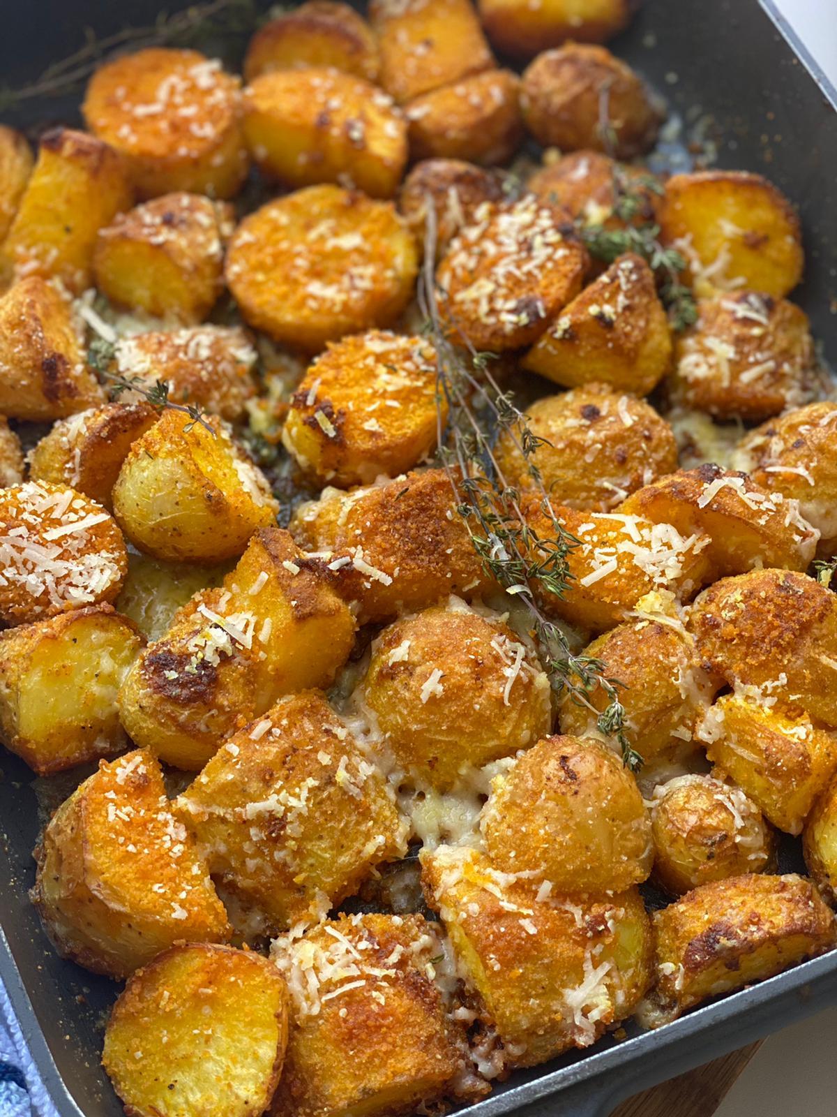תפוחי אדמה קריספיים בתנור