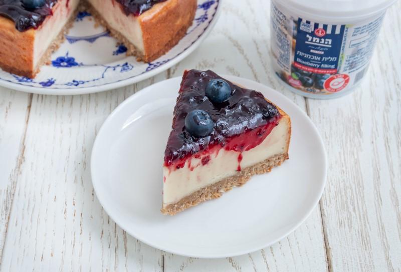 עוגה טבעונית עם אוכמניות 3