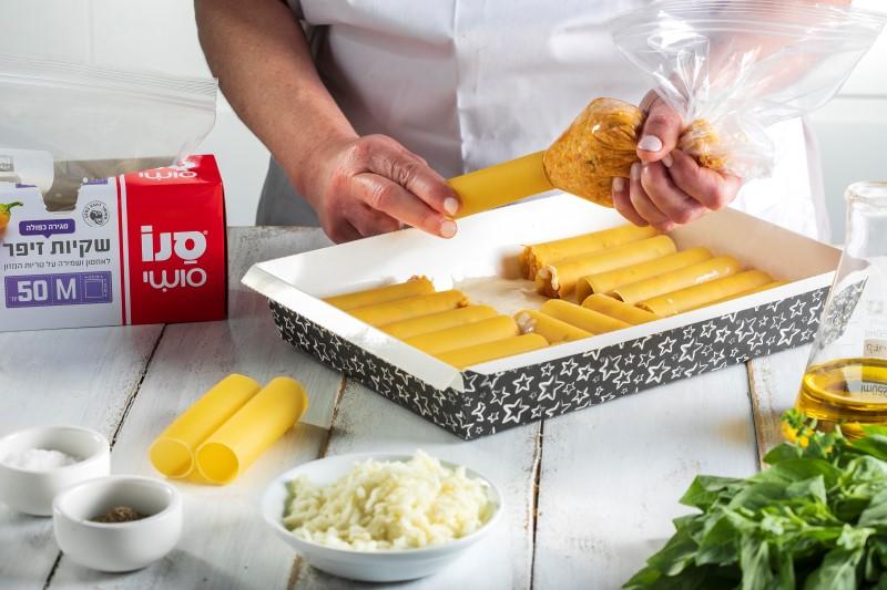 קנלוני גבינות ובטטה 4