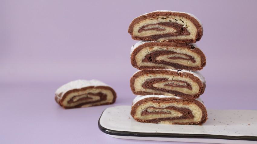 עוגיות מגולגלות חום לבן 1