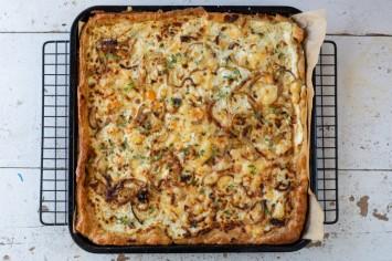טארט גבינות ובצל של קרן אגם