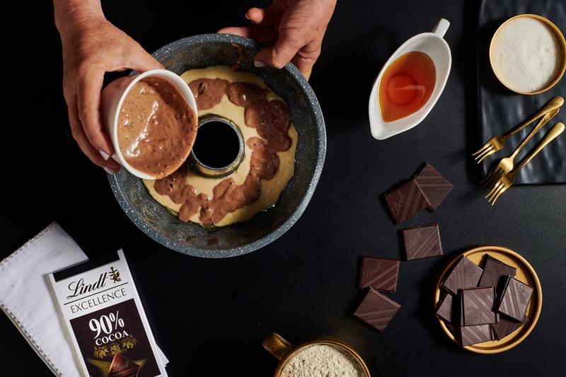 עוגת שיש דבש ושוקולד טבעונית 4