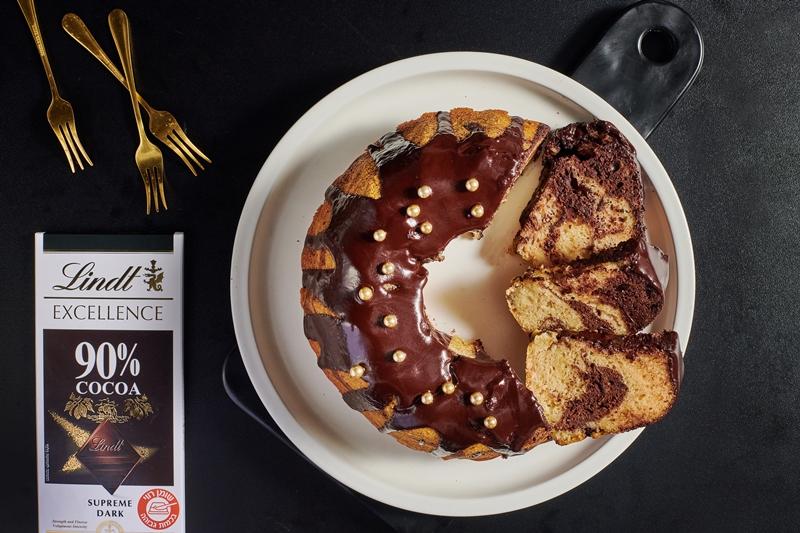 עוגת שיש דבש ושוקולד טבעונית 6