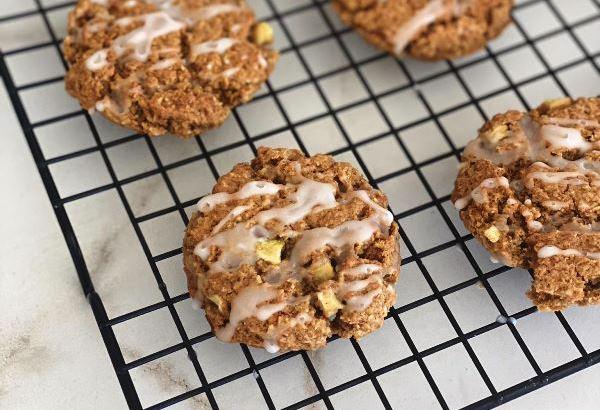 עוגיות שיבולת שועל ותפוחים בזיגוג דבש1