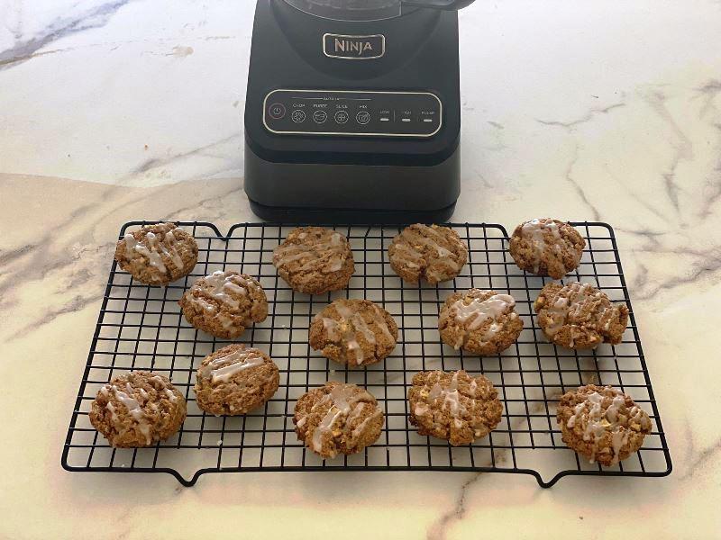 עוגיות שיבולת שועל ותפוחים בזיגוג דבש3