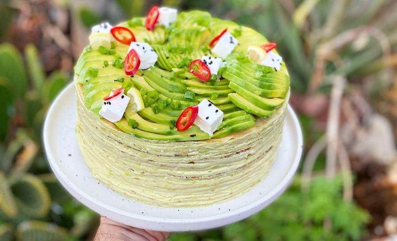 עוגת קרפים אבוקדו1