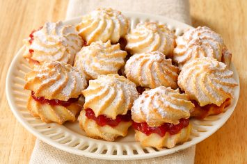 עוגיות סנדוויץ' כוכבי חמאה