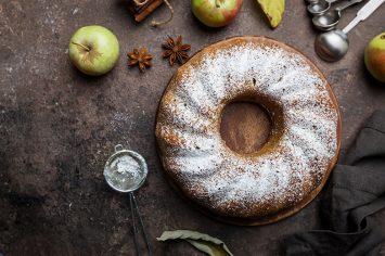 עוגת תפוחים לעצלנים