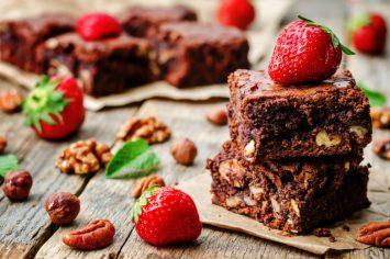 בראוניז שוקולד תות