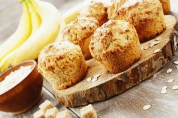 מאפינס בננה ופירורים ללא תוספת סוכר