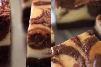 בראוניז דלמטיים מהממים - בראוניז שוקולד גבינה של קרין גורן