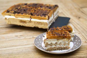 עוגת וופל בלגי עם מייפל ללא אפייה של קרין גורן