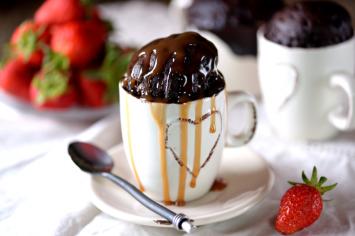 עוגת שוקולד חמה למיקרוגל ללא תוספת סוכר