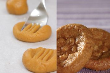 עוגיות חמאת בוטנים מוטבעות